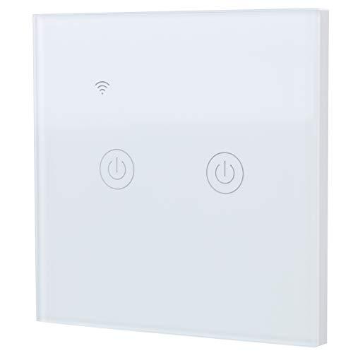DS-101-2 Interruptor inteligente WiFi, controlador de encendido/apagado remoto inalámbrico de 2 vías para teléfonos móviles domésticos para luces Ventiladores de techo 200-240 VCA, 10-200 W por cana