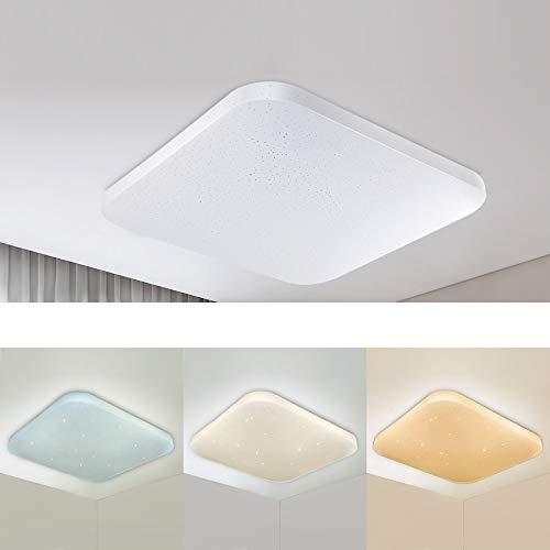 Dimmerabile Plafoniera LED Bagno Cucina Camera da letto Lampada a soffitto LED Soggiorno Sala da pranzo Corridoio Moderna Quadrata Plafoniere impermeabili Regolabile 3000/4000/6000K 2050lm 26W LUSUNT