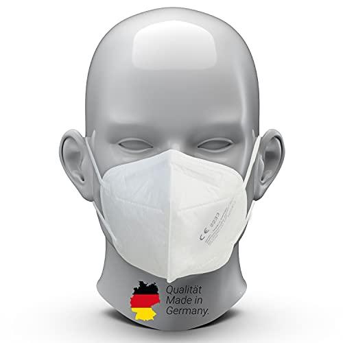 elasto form 10x FFP2 Masken CE Zertifiziert 2233 MADE IN GERMANY 5-lagig FFP2 Atemschutzmasken Staubschutzmaske Atemmaske Staubmaske