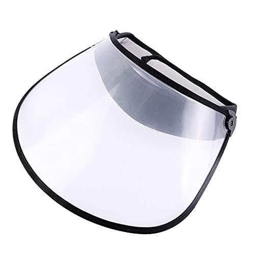 Cappello da Sole con Visiera Vuota Protettiva per Adulti con Visiera Integrale Anti-Spitting Saliva Protezione Antipolvere Pieghevole con Visiera Trasparente per Porta da Escursionismo