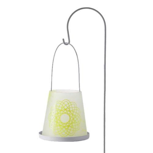 Leonardo Lampion 2-delig lime Daylight + lampionstandaard 120 cm zilver