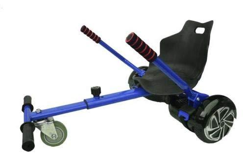 OVIBOARD Silla, Asiento de Hoverboard, Kart para Patinete, Adaptable 6.5 8 y 10 Pulgadas (Azul)