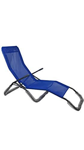 Sedam Srl Sdraio Basculante Colore Blu, Reclinabile, Giardino Poltrona Esterno (Blu)
