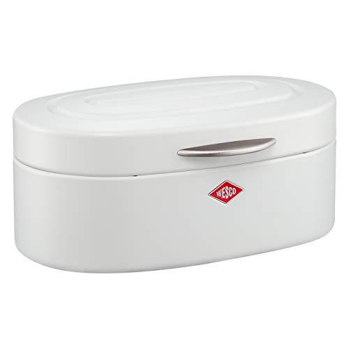 Wesco 236 101-74 Single Elly Brotkasten, Rostfreier Stahl, Weiß