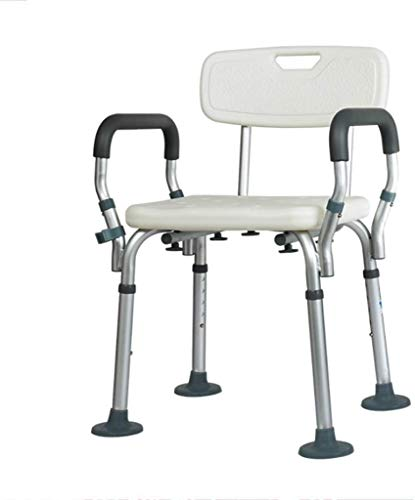 ZXY-NAN Bathroom Wheelchairs Stools Bath Stool Shower Stool Seat Bath Chair NonSlip Adjustable Height with Armrests Lightweight Aluminum with backrest Elderly Disabled Pregnant AntiSlip Shower Seat St