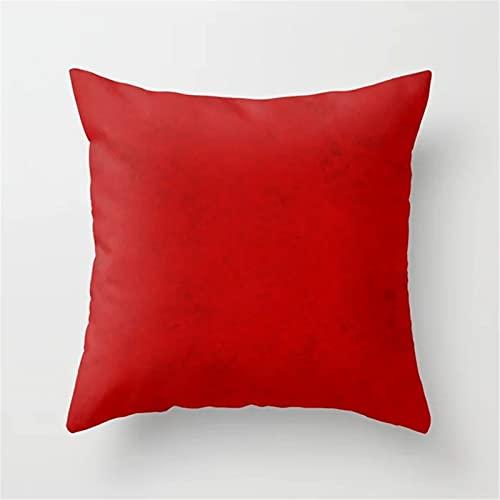 YUNSW Funda De Almohada Corazón De Amor Rojo, Funda De Almohada Cuadrada De 45X45, con Relleno De Almohada, Jardín De Coche Terraza Oficina Sala De Estar Dormitorio Decoración