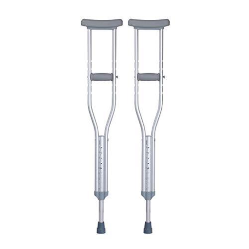 PENGJIE-Walking Aid Rehabilitación de pie Axilas Muletas Ancianos Médicos Bastón Antideslizante Bastón para discapacitados Altura Ajustable