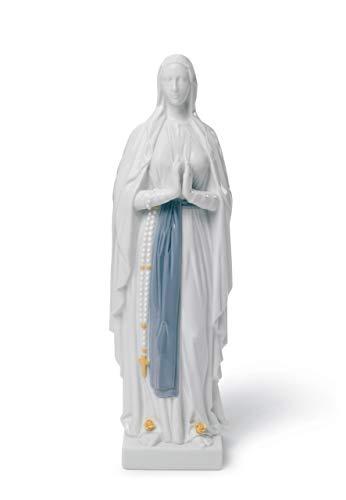 LLADRÓ Figura Nuestra Señora de Lourdes. Virgen María de Porcelana