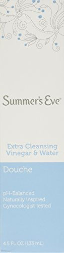Summer's Eve Douche Extra Cleansing Vinegar & Water 4.5 Fl Oz /133 Ml(Pack of 6)