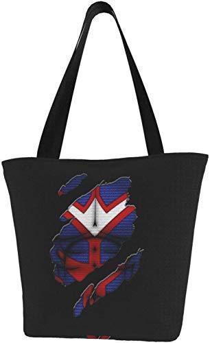 Nichijou Einkaufstasche mit Arm, Wrestling-Motiv, Segeltuch, Schultertasche für Geschenk, Shopping, Schule, - My Hero Academia All Might - Größe: Einheitsgröße