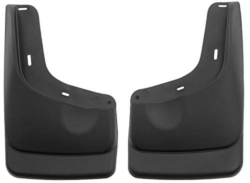 Husky Liners Fits 2004-14 Ford F-150 - with OEM Fender Flares and with running boards Custom Front Mud Guards,Black,56591