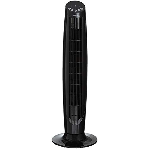 Amazon Basics Digital Oscillating 3 Speed Tower Fan with Remote