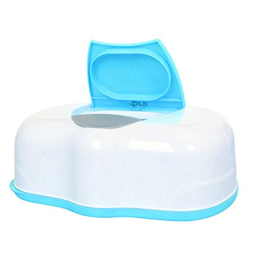 ZJMIQT Caja De Pañuelos,Organizador Home Car Wet Wipes Box Plástico Tejido Azul Húmedo Caja Automática Pop-Up Diseño Caja De Tejidos Baby Wipes Storage Organizer Box