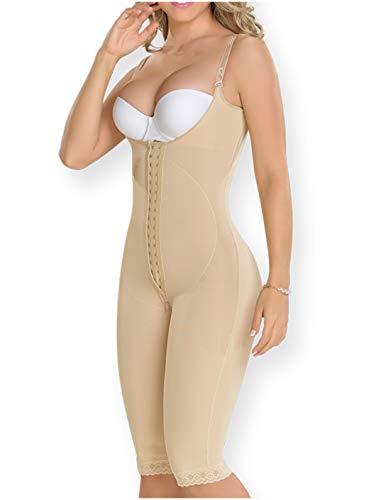 M&D 0478 Fajas Colombianas para Adelgazar Reductoras y Moldeadoras Postparto Post Surgery Liposuction Compression Garments BBL Shapewear Beige L
