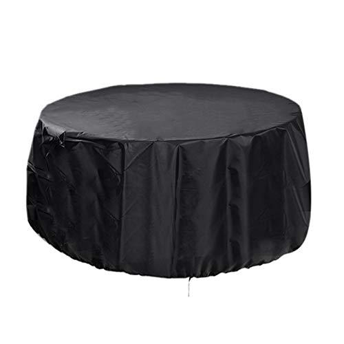 """Cubierta de muebles redonda al aire libre Cubierta de muebles de exterior 100% resistente a prueba de agua para mesa y silla Para exteriores, juegos de comedor grandes con césped cubren 72.8-110.2 """"de"""