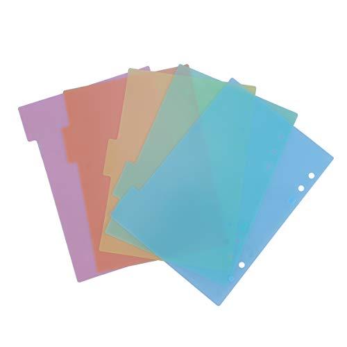 TOYMYTOY Divisores A5,Pestaña de índice de índice para cuaderno de notas, 10 hojas