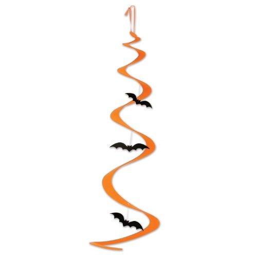 Décoration spirale à suspendre chauve-souris Halloween - taille - Taille Unique - 228085