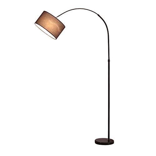 Busirsiz En la sala, hotel, dormitorio, Protección de los ojos lámpara de piso -Sala de estar Lámpara de pie moderna simple Pesca Luz Altura 185cm interruptor de botón
