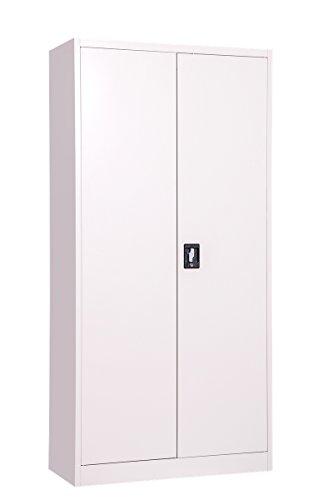 MMT Möbel Designs grau Stahl hoch 2Türen Bücherregal Aktenschrank, 2abschließbare Türen–1850mm–Professionelle Grade–400mm tief–4interne Verstellbare Regalböden