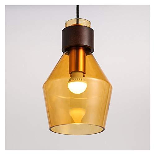 Accesorio de iluminación Lámparas de suspensión de cristal anaranjadas modernas, luz colgante para sala de niños, techo nórdico lámpara de lámpara de lámpara de lámpara de lámpara, E26 E27 Linterna de