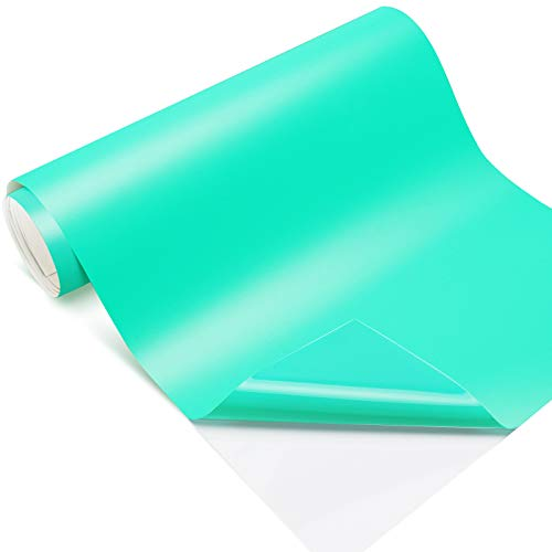 Craft Adhesive Vinyl Roll Matte Tiffany Permanent Vinyl 12'x12ft for Signs,Scrapbook,Lettering