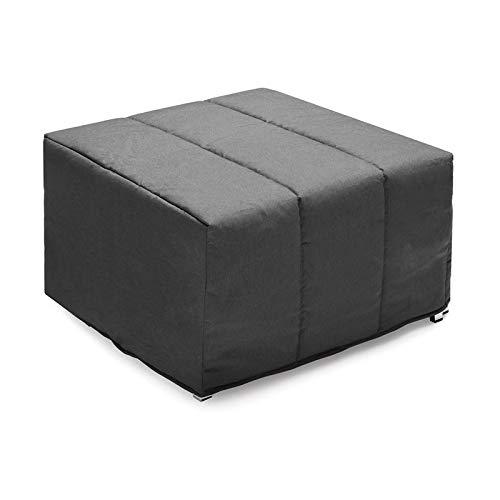Vida de hogar - Pouf Cama Lola 80x90x45 cm Cerrado – 80x180x12 cm Abierto Cama - Color Negro