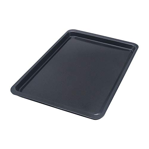 Cookaholic Carbon Steel 14 inch Non-Stick Deep Square Pizza/Cookie Pan for Baking in Oven