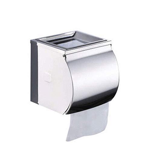 PYROJEWEL Cuarto de baño Impermeable Soporte de Papel, de Pared sostenedor de la Toalla de Papel y Multifuncional Caja de Almacenamiento servilletero