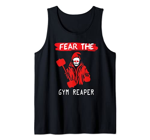 Fear The Gym Reaper Powerlifting Fitness Camiseta sin Mangas