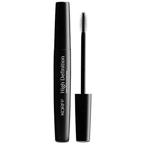 Korff Mascara High Definition Allungante, Lunga Tenuta 10H, Senza Grumi per un Make Up alta Definizione, Nero, 9ml