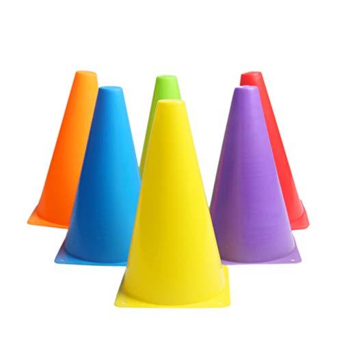 BESPORTBLE 6 Piezas Cono Marcador Cono de Entrenamiento de Fútbol Campo de Plástico Cubo Cubo Colorido Juego Jugando Obstáculo Deportes Señal Barrera para Hogar Al Aire Libre (23 Cm)