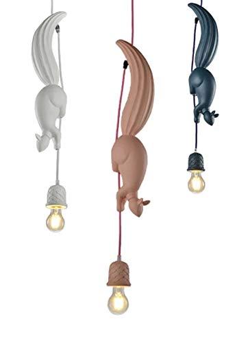 LYEJFF Luz Colgante de Ardilla nórdica, lámpara Colgante de Resina de Ardilla de Tres Colores para Sala de niños, jardín de Infantes, decoración de Regalo de Dormitorio 3
