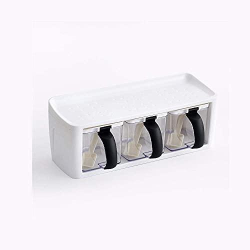 Spice opslag Plastic Spice Rack Gestapelde opslag Kruiden dozen Spice Kruiken met Handvat Lepel Keuken Opbergcontainer…