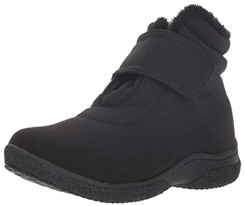 Propet Women's Madi Ankle Strap Snow Boot, Black, 9 Narrow
