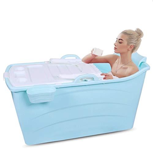GLG Adulto bañera Plegable Plegable del bebé portátiles for bañera Bañera, Aislamiento hogar de Materiales plásticos Bañera de hidromasaje Grande de plástico Bañera Antideslizante con Cubierta
