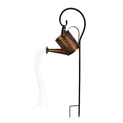 Bouilloire Regadera Decoración De Jardín Luces De Ducha para Exteriores Lámpara De Regadera Ducha De Estrella Luces De Jardín Ducha Solar para Jardín Al Aire Libre con Soporte, para Patio, Césped