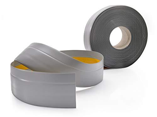 Weichsockelleiste Selbstklebend GRAU Knickleiste zum Kleben, für Küche Badezimmer, 50x20mm, 25 Meter