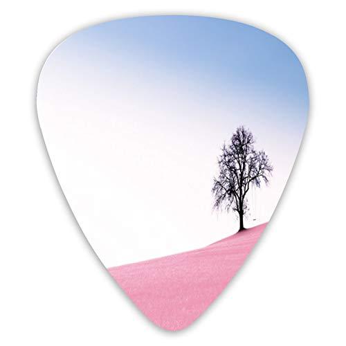 FULIYA Púas de guitarra, 12 púas de guitarra personalizadas para tu guitarra eléctrica, acústica o bajo, X pesada, pesada, media, ligera, árbol, columpio, pendiente.