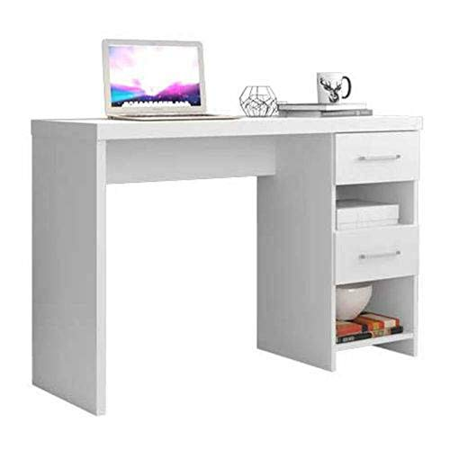 Mesa Para Computador Notebook Escrivaninha Duna Branca