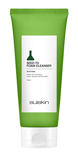 Seed To Foam Face Wash Cleanser - Foaming Hypoallergenic Moisturizing Daily Facial Cleanse by SUISKIN
