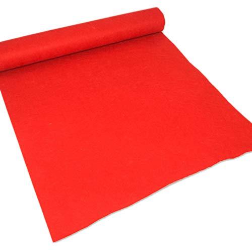 Corredor De La Alfombra Roja Para El Fondo De La Fiesta Alfombra Roja Eventos 2 Mm De Grosor De La Boda Desechable Del Pasillo De La Boda Fuera Del Interior La Alfombr(Size:1.2×25m(4×82ft),Color:rojo)