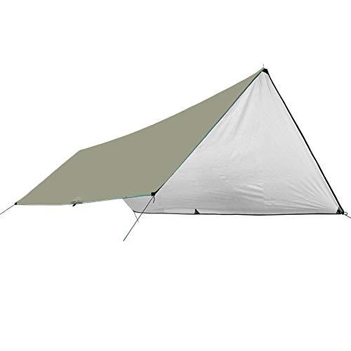 YNES Velas de Sombra Hamaca Carpa Impermeable, UV Bloqueo Rip-Stop Tela, for Camping, Senderismo y Equipo de Supervivencia (Color : Beige, Size : 3×5m)