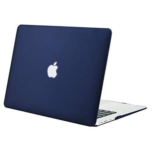MOSISO MacBook Air 13 inch Case (Models: A1369 & A1466, Older Version 2010-2017 Release), Plastic Hard Shell Case Cover Only Compatible with MacBook Air 13 inch, Navy Blue