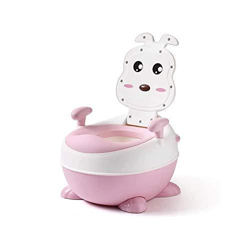 LKNJLL Mehrstufige 3-in-1 Potty, Kinder Toilette Toilette Männer und Frauen Baby-Kind-Baby-Kind-Potty Kind Pediatric Pissoir Padded WC (Color : Pink)