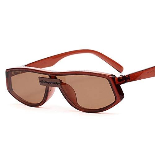 UKKD Gafas De Sol Hombres Gafas De Sol Cuadradas Hombres Y Mujeres Estilo Sombrilla Diseñador De Moda Retro Gafas-Brown
