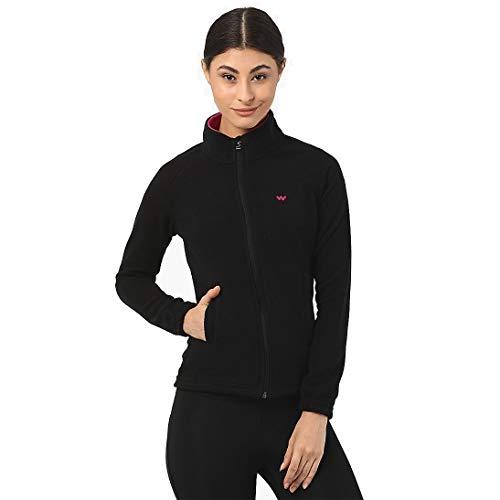 Wildcraft Women's & Girl's Solid Regular Jacket (42006_Black_S)