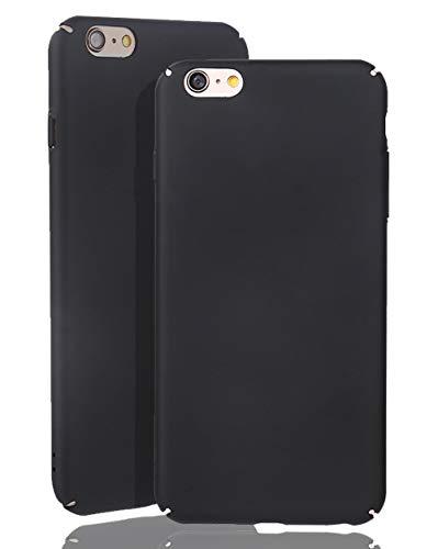 inv [Compatible con iPhone 6/6S, carcasa rígida ultrafina en color negro, mate, ligera, sin logotipo.