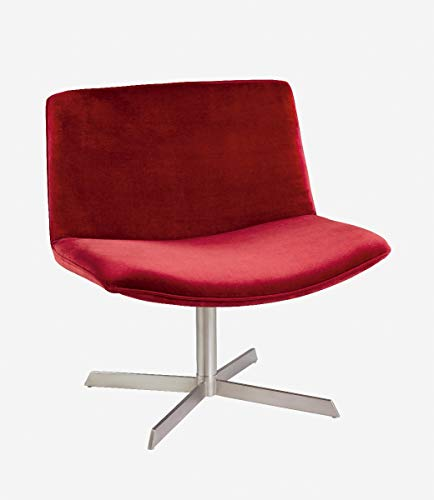 CAMINO A CASA - Fauteuil Design Tissus Rouge Velours Kiss