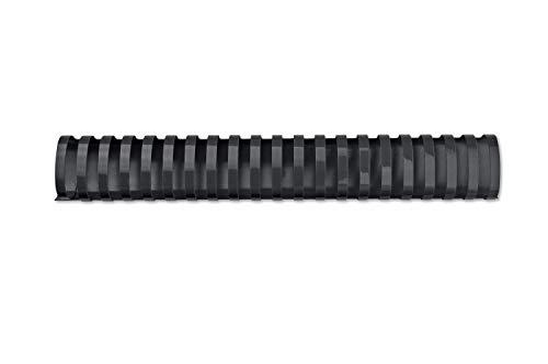 GBC 4028186 - Canutillo plástico DIN A4 21 anillas 45 mm ovalados (caja 50) color negro