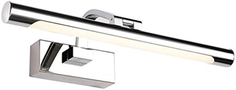 XMYX LED Spiegelleuchte Badleuchte Schminklicht Wandleuchte Edelstahl Bad Spiegellampe Einstellbar Aufbauleuchte Spiegel Schrank Beleuchtung IP44 Wasserdicht,WarmWeiß72cm16W